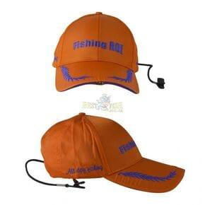 Кепка Fishing ROI с фонариком Led Fishing Сap orang