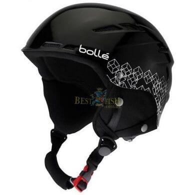 Горнолыжный шлем Bolle B-Rent Shiny Black-Silver 58-61