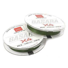Шнур Lucky John Basara Green Х4 PE 125m 0.235mm Зеленый