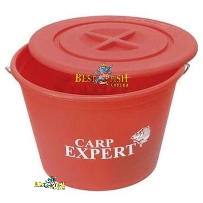 Ведро для прикормки Carp Expert 10 литров с крышкой