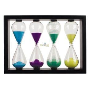 Часы Bratfishing песочные набор в рамке, 2-5-8-10 минут, высота 18см