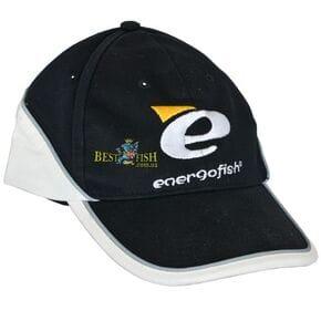 Бейсболка ENERGOFISH черно - белая