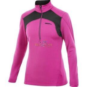 Пуловер женский Craft Boddymapped Half Zip Pullover розовый