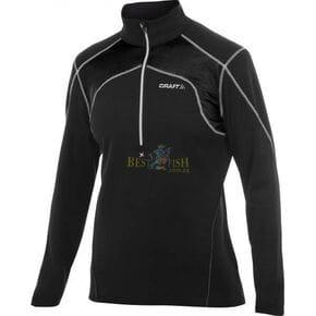 Пуловер женский Craft Boddymapped Half Zip Pullover черный