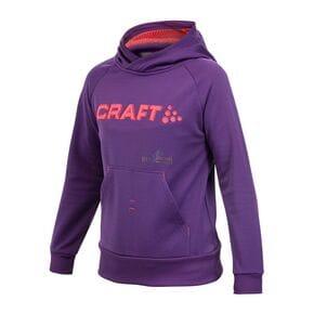 Толстовка детская Craft Stretch Hood фиолетовая