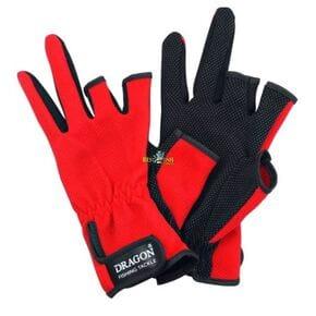 Перчатки Dragon 3-х палые красные