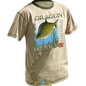 Футболка Dragon Лещ бежевая