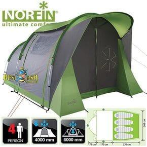 Палатка 4-х местная Norfin ASP 4 NF Alu алюминиевые дуги
