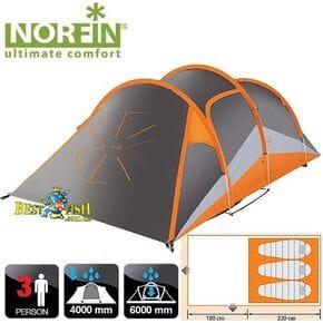 Палатка 3-х местная Norfin HELIN 3 NS ALU алюминиевые дуги