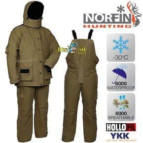 Костюм зимний Norfin Hunting WILD GREEN (-30°C)