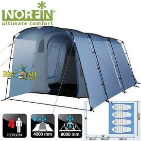 Палатка кемпинговая 4-х местная Norfin MALMO 4 NFL