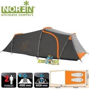 Палатка 2-х местная Norfin OTRA 2 NS ALU алюминиевые дуги