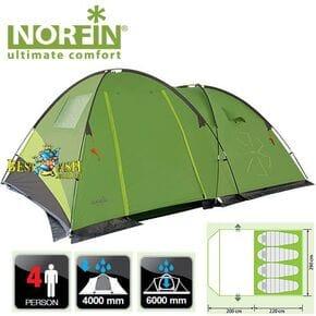 Палатка кемпинговая 4-х местная Norfin POLLAN 4 NF