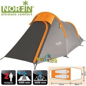 Палатка 2-х местная Norfin ROXEN 2 NS ALU алюминиевые дуги