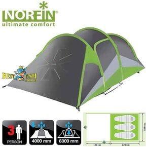 Палатка 3-х местная Norfin SalmoN 3 NF ALU алюминиевые дуги
