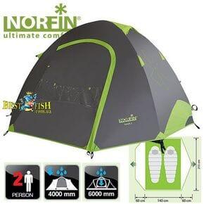 Палатка  2-х местная Norfin SMELT 2 NF ALU алюминиевые дуги