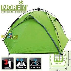 Палатка 3-х местная Norfin TENCH 3 NF автоматическая