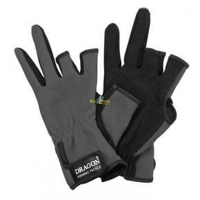 Перчатки Dragon 3-х палые серый