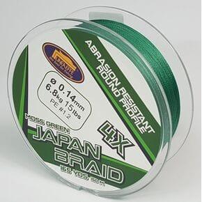 Шнур Lineaeffe Japan Braid 4X 150m 0.08mm/3.70kg зеленый