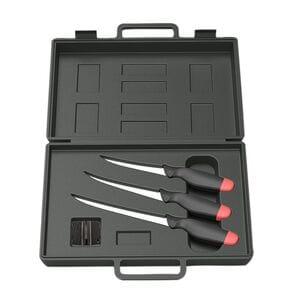 Набор ножей DAM 3 филейных ножа и точилка