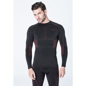 Термофутболка  Accapi Polar Bear Long Sleeve Shirt Man 955 black/bordeaux