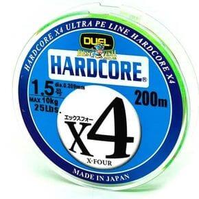 Плетеный шнур Duel Hardcore X4 Green #1.5/200
