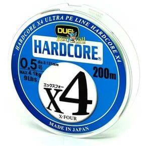 Плетеный шнур Duel Hardcore X4 Multicolor #0.5/200