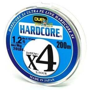Плетеный шнур Duel Hardcore X4 Multicolor #1.2/200