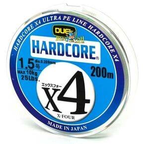 Плетеный шнур Duel Hardcore X4 Multicolor #1.5/200