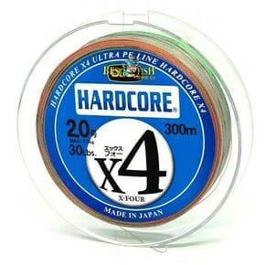 Плетеный шнур Duel Hardcore X4 Multicolor #2/300