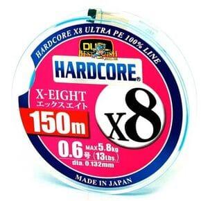 Плетеный шнур Duel Hardcore X8 Blue #0.6/150