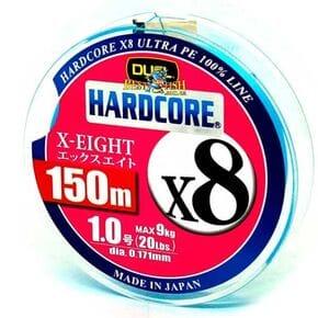Плетеный шнур Duel Hardcore X8 Blue #1/150