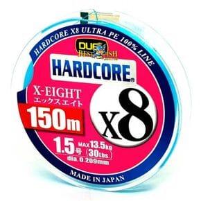 Плетеный шнур Duel Hardcore X8 Blue #1.5/150