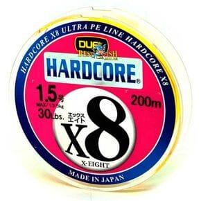 Плетеный шнур Duel Hardcore X8 Yellow #1.5/200