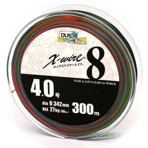 Плетеный шнур Duel X-Wire 8 Eight Multicolor #4.0/300